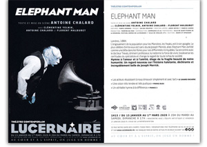 Spectacle elephant man